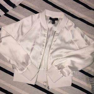 Silk white bomber